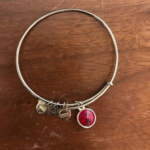 "Alex and Ani silver ""garnet"" bangle"